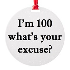 100 your excuse 2 Ornament