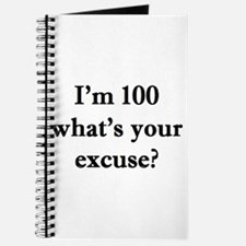 100 your excuse 2 Journal