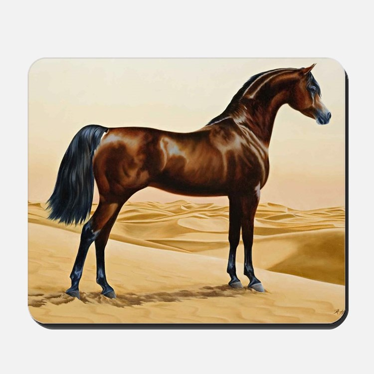 Vintage Arabian Horse Painting by Willia Mousepad