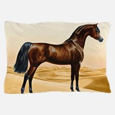 Vintage Arabian Horse Painting by Will Pillow Case