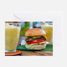 Gourmet Burger and Smoothies  Greeting Card