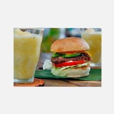 Gourmet Burger and Smoothies  Rectangle Magnet