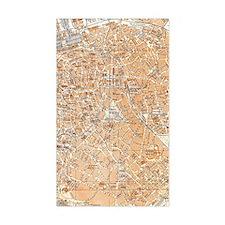 Vintage Map of Antwerp Belgium Decal