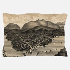 Vintage Pictorial Map of Bar Harbor (1 Pillow Case