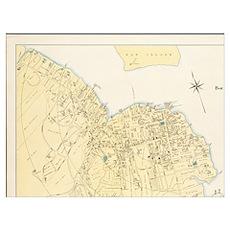 Vintage Map of Bar Harbor Maine (1897) Poster
