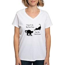 Funny Cat Boss Women's V-Neck T-Shirt