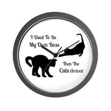 Funny Cat Boss Wall Clock
