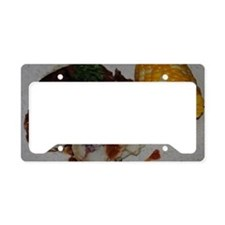 Barbecue Chicken and Corn  License Plate Holder