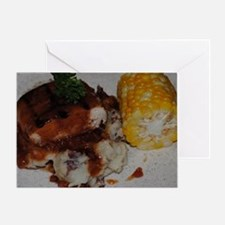 Barbecue Chicken and Corn  Greeting Card