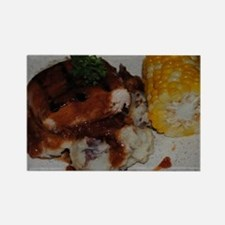 Barbecue Chicken and Corn  Rectangle Magnet