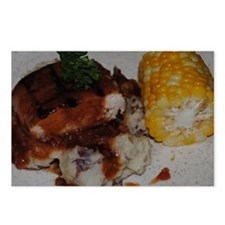 Barbecue Chicken and Corn Postcards (Package of 8)