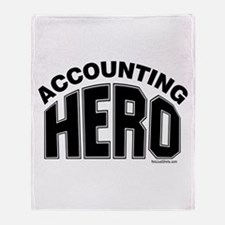 Accounting Hero Throw Blanket