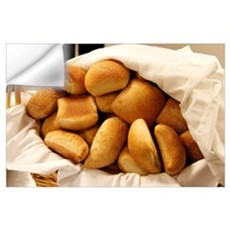 Basket of Dinner Rolls Wall Decal