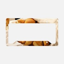 Basket of Dinner Rolls License Plate Holder