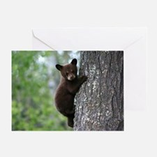 Bear Cub Climbing a Tree Greeting Card