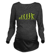 Zombie Evolution Long Sleeve Maternity T-Shirt