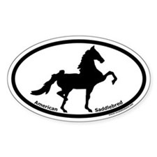 American Saddlebred Oval Euro Bumper Stickers