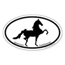 American Saddlebred Oval Euro Decal