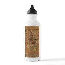 Vintage Map of Beijing Water Bottle