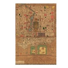Vintage Map of Beijing Ch Postcards (Package of 8)