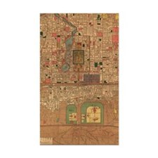 Vintage Map of Beijing China ( Decal