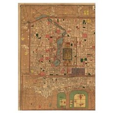 Vintage Map of Beijing China (1914) Poster