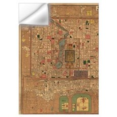 Vintage Map of Beijing China (1914) Wall Decal