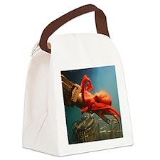 Orange Octopus Canvas Lunch Bag