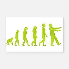 Zombie Evolution Rectangle Car Magnet