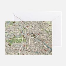 Vintage Map of Berlin Germany (1905) Greeting Card