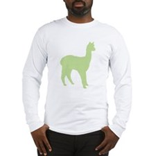 Alpaca (#2 in green) Long Sleeve T-Shirt