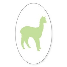Alpaca (#2 in green) Oval Decal
