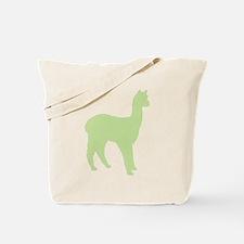 Alpaca (#2 in green) Tote Bag