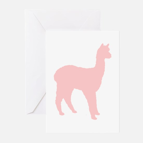 Alpaca (#2 in pink) Greeting Cards (Pk of 20)