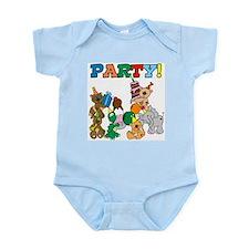 Animals Birthday Party Infant Bodysuit