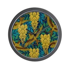 Vintage Art Deco Birds and Leaves Wall Clock