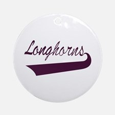Longhorns Lettering Ornament (Round)