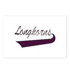 Longhorns Lettering Postcards (Package of 8)