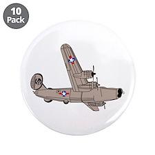 "B-24 Liberator 3.5"" Button (10 pack)"