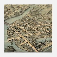 Vintage Pictorial Map of Birmingham C Tile Coaster