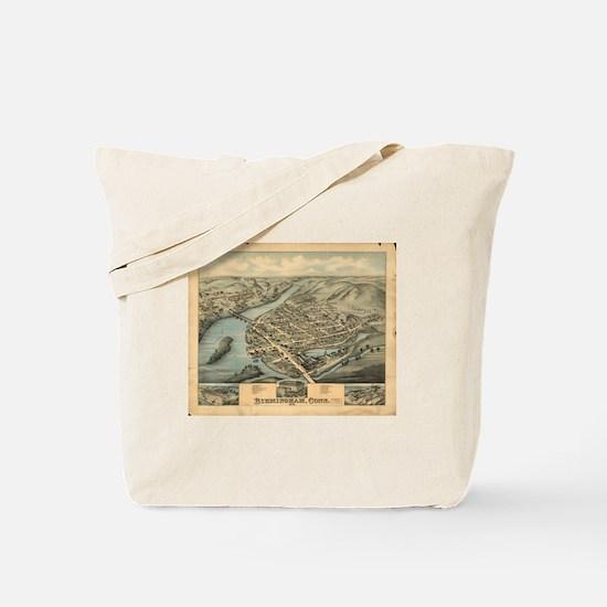 Vintage Pictorial Map of Birmingham CT (1 Tote Bag
