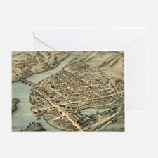 Vintage Pictorial Map of Birmingham  Greeting Card