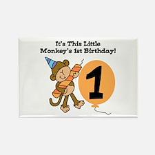 Little Monkey 1st Birthday Rectangle Magnet