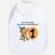 Little Monkey 1st Birthday Bib