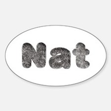 Nat Wolf Oval Decal