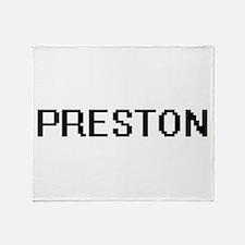 Preston digital retro design Throw Blanket
