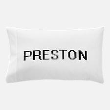 Preston digital retro design Pillow Case