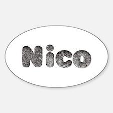 Nico Wolf Oval Decal