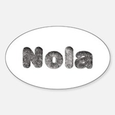 Nola Wolf Oval Decal