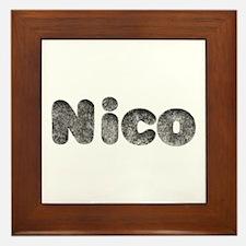 Nico Wolf Framed Tile